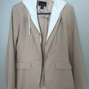 Casual blazer with hooded zip in.